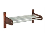 CSL Foodservice & Hospitality TFXCR-32 CM 32-in Wooden Coat Rack w/ Interior Metal Top Bars, Cherry Mahogany