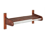 CSL Foodservice & Hospitality TFXWCR-50 D 50-in Wooden Coat Rack w/ Interior Hardwood Top Bars, Dark Oak