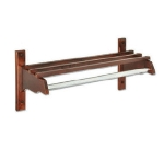 CSL Foodservice & Hospitality TJFCR-38 D 38-in Wooden Coat Rack w/ Channel Rod, Dark Oak