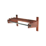 CSL Foodservice & Hospitality TCOCR-48 CM 48-in Commander Wooden Coat Rack w/ Channel Rod, Cherry Mahogany