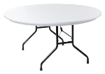 Royal Industries CORBTP60R Folding Round Banquet Table, 60-in Diam., Granite Gray Finish