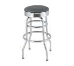 Royal Industries ROY 7710 GY Classic Diner Bar Stool w/ Chrome Frame & Gray Seat