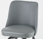 Royal Industries ROY 7714 SGY Replacement Bucket Bar Stool Seat, Gray