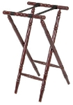 Royal Industries ROY 776 32-in Turned Wood Tray Stand w/ Walnut Finish