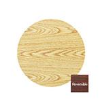Royal Industries ROYRTT30RT 30-in Round Reversible Oak & Walnut Wood Grain Table Top