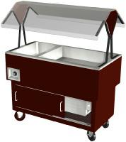 Duke DPAH-3-HF EconoMate Hot Food Portable Buffet, 3 Hot Wells, Clear Canopy, S/S Top