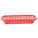 Tablecraft 1077R Platter Basket, 10-3/4 x 7-3/4 x 1-1/2 in, Rectangular, Red