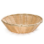 Tablecraft 1175W Woven Basket, 8-1/2 x 2-1/4-in, Round, Polypropylene Cord, Natural