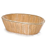 Tablecraft 1176W Woven Basket, 10-in, Oval, Natural