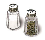 Tablecraft 152S&P Salt Pepper Shaker, 1 oz, Stainless Top, Dozen