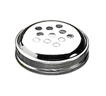 Tablecraft 260T Cheese Shaker Top, Chrome Plated Metal Top