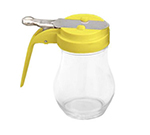 Tablecraft 406Y Syrup Dispenser, Yellow ABS Top, Teardrop