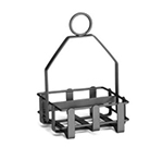 Tablecraft 602RBK Sugar Packet Rack, Double Sided, Black