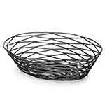 Tablecraft BK17410 Artisan Collection Basket, 10 in x 7 in x 2.5 in, Oval, Black