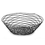 Tablecraft BK17510 Artisan Collection Basket, 10 in Round, Black