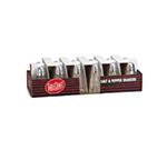Tablecraft C80-12 Salt / Pepper Shaker, 1-1/2 oz, Glass, Chrome Top