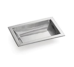Tablecraft RB128 Remington Collection Bowl, 11-1/4 x 7-1/4 x 2 in, Rectangular, Stainless Steel