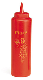 Tablecraft 1112K 12-oz Nostalgia Squeeze Dispenser, Ketchup, Soft Polyethylene