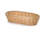 Tablecraft 1113W Handwoven Basket, 13 x 5 x 3-in, Polypropylene, Oblong
