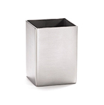 Tablecraft 1156 Stainless Steel Sugar Packet Holder, 2 x 2-3/4-in, Square