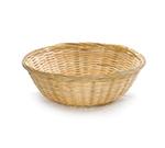 Tablecraft 1275N Bamboo Basket, 8-1/2 x 3-in, Round