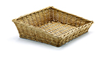 Tablecraft 161113 Willow Basket, 11 x 13-1/2 x 2-in Front, 4-in Back
