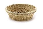 Tablecraft 16755 Handwoven Willow Basket, 9 x 3-in Round