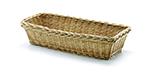 Tablecraft 1686 Handwoven Willow Basket 14-3/4 x 6-3/4 x 3-1/2-in, Rectangular