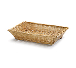 Tablecraft 1692 Handwoven Willow Basket, 18 x 13 x 3-in, Rectangular