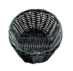 Tablecraft 2471 Handwoven Basket, 7 x 5 x 2-in, Polypropylene Cord, Oval, Black
