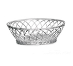 Tablecraft 3173 Round Victorian Basket, 8-1/2 x 2-3/4-in Round, Silver Plated