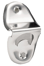 Tablecraft 395 Chrome Plated Bottle Opener w/ Wall Mount
