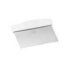 Tablecraft 4103W 6-in Dough Scraper w/ White ABS Handle, Stainless Steel Blade