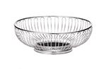Tablecraft 4177 Round Chalet Basket, 7-1/2 x 2-1/4-in, Chrome Plated