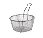 Tablecraft 488 Nickel Plated Fry Basket, 9-1/2 x 5-in Round, Four Mesh
