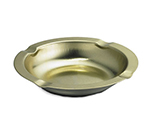 Tablecraft 575 Gold Anodized Economy Ashtray, 5-3/4 x 1-in