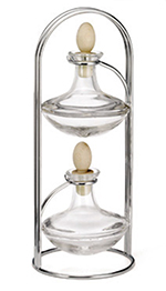 Tablecraft 623N 7-oz Ponticella Glass Set w/ Vertical Chrome Plated Rack