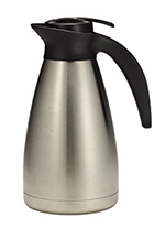 Tablecraft 734 34-oz Stainless Steel Coffee Decanter w/ Plastic Thumb Press
