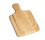 Tablecraft 79K Natural Finish Wood Bread Board, 13 x 7-3/4-in Knife Slot