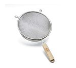 Tablecraft 96 6-1/4-in Tinned Medium Mesh Strainer w/ Wooden Handle, Double