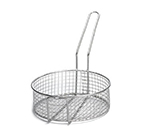 Tablecraft 988 Stainless Steel Cooking Basket, 10-1/2 x 3-1/2-in Round