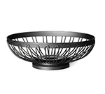 Tablecraft BK6171 Black Powder Coated Oval Regent Basket, 8 x 6 x 2-1/28-in