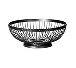 Tablecraft BK6175 Black Powder Coated Metal Round Basket, 10 x 3-3/4-in
