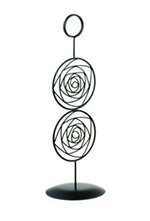 Tablecraft BKC12 12-in Black Powder Coated Metal Circle Number Stand