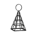 Tablecraft CHE5 5-in Black Powder Coated Metal Eiffel Tower Number Stand