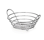 Tablecraft H717510 Chrome Plated Round Serving Basket, 10 x 3-1/4-in, Heavyweight