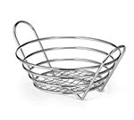 Tablecraft H71758 Chrome Plated Round Serving Basket, 8 x 3-1/4-in, Heavyweight