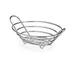 Tablecraft H717610 Chrome Plated Oval Serving Basket, 10 x 7-1/2 x 3-1/4-in