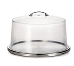 Tablecraft H820P Stainless Steel Low Profile Cake Plate