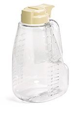 Tablecraft L32BE 32-oz Polycarbonate Option Dispenser w/ Beige Top